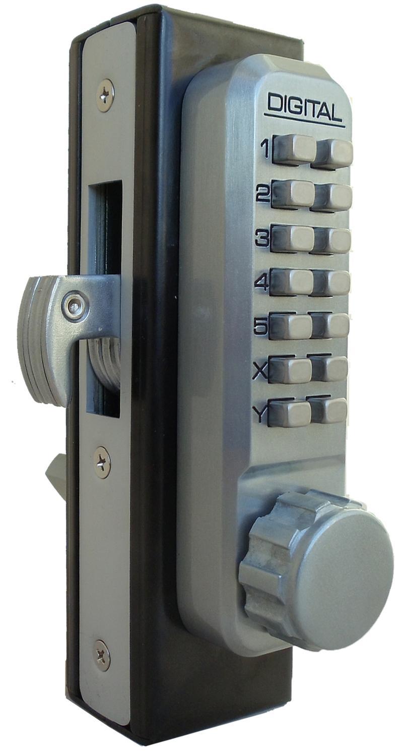Lockey 2950 mg keyless mechanical digital mortised hook for Door bolt lock