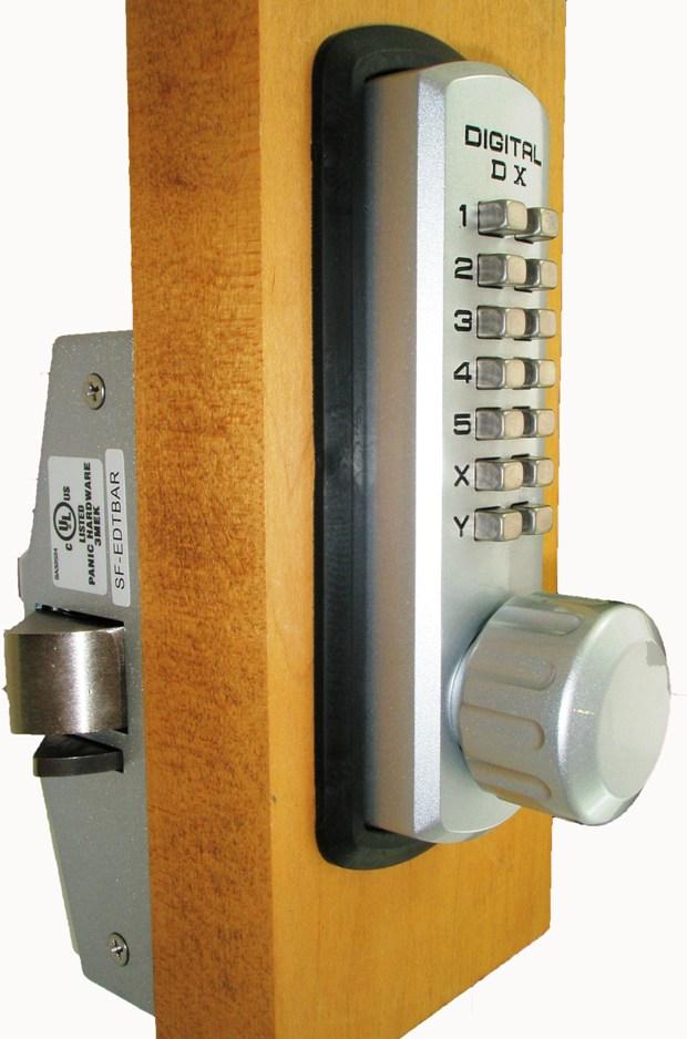 Lockey 310 P Keyless Mechanical Digital Panic Bar Exit