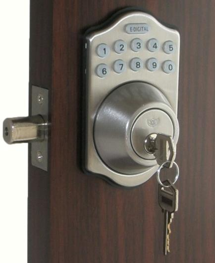 lockey e910r digital keyless electronic deadbolt door lock with remote. Black Bedroom Furniture Sets. Home Design Ideas