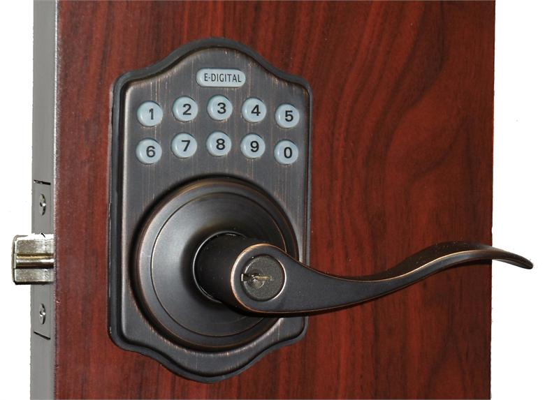 Lockey E Digital Keyless Electronic Lever Door Lock With