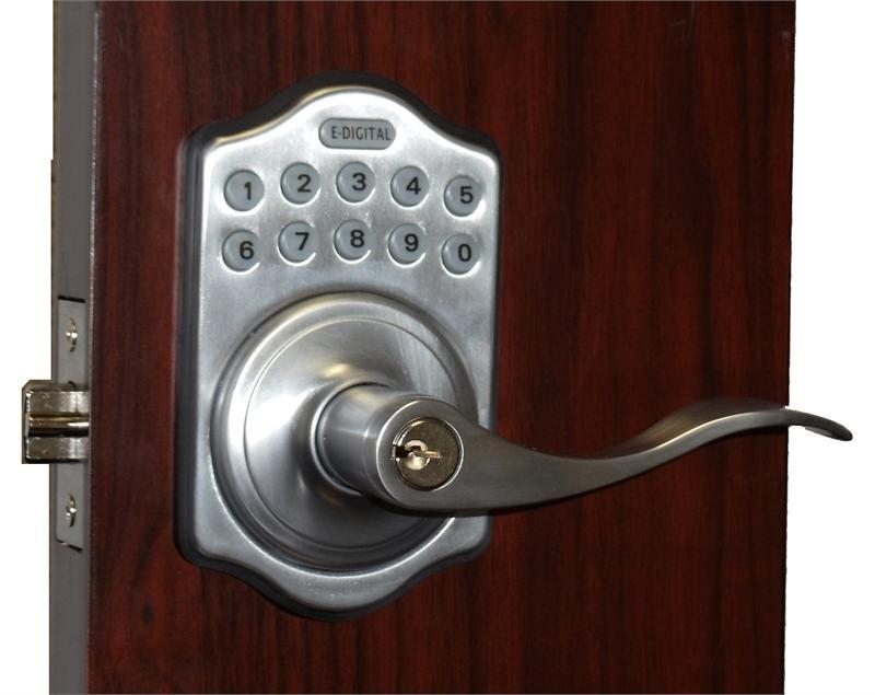 Lockey E Digital Keyless Electronic Lever Door Lock with Remote