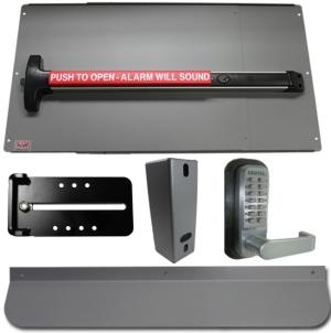 Detex Psdxal Security Kit Alarm Panic Bar And Panic Shield