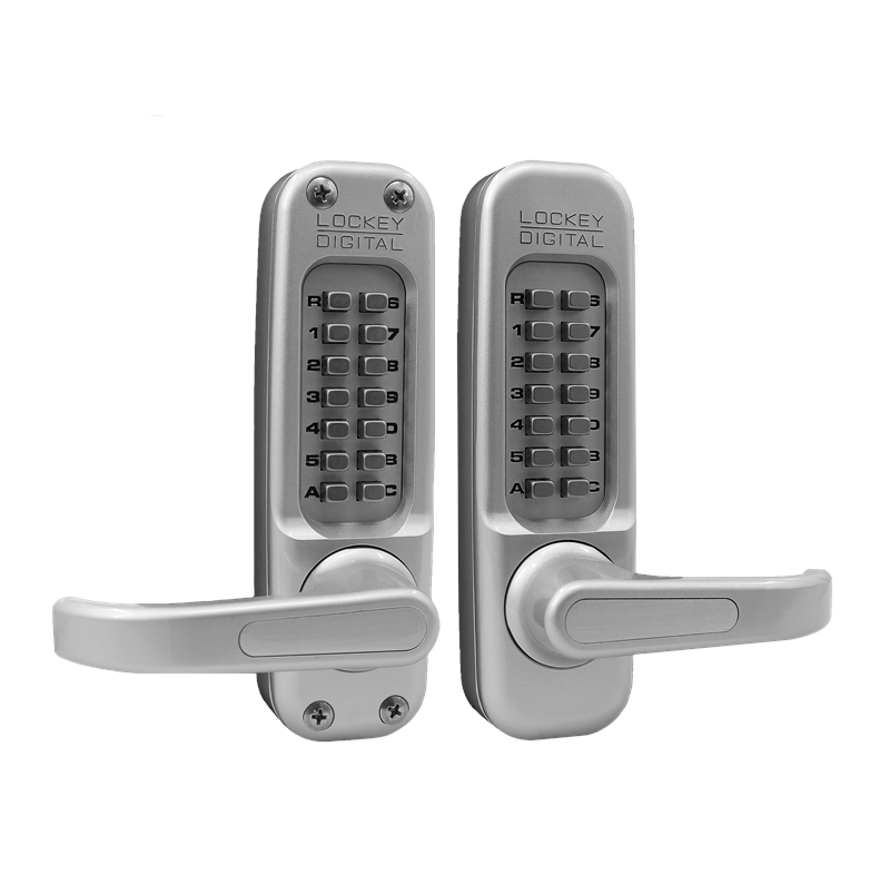 Lockey 1150DC MG Keyless Mechanical Digital Double Sided Combination Spring Latch Door Lock