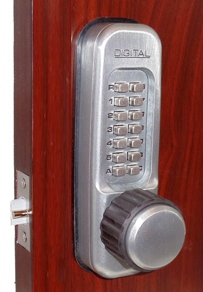 Lockey 1600DC MG Keyless Mechanical Digital Double Sided Spring Latch Door Lock