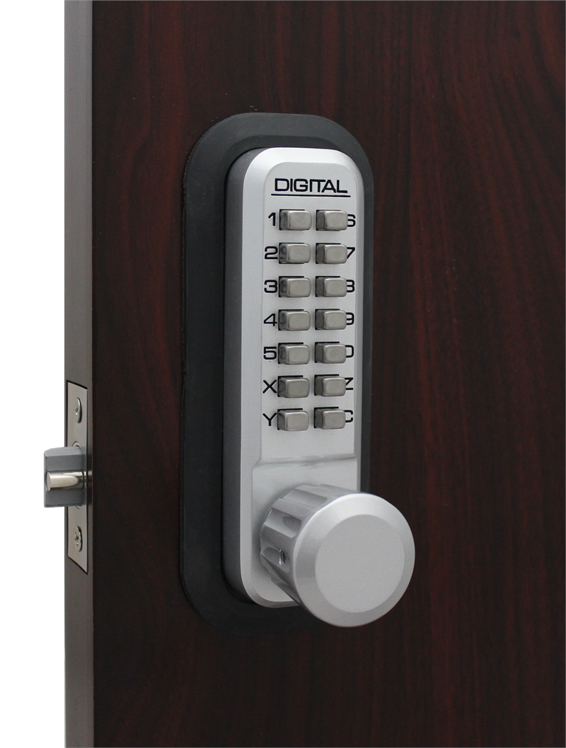 Lockey 2830DC-MG Keyless Mechanical Double Sided Digital Spring Latch Knob Lock Marine Grade
