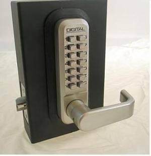 How To Store Batteries >> Lockey 2835DC Keyless Mechanical Digital Double Sided Combination Spring Latch Door Lock