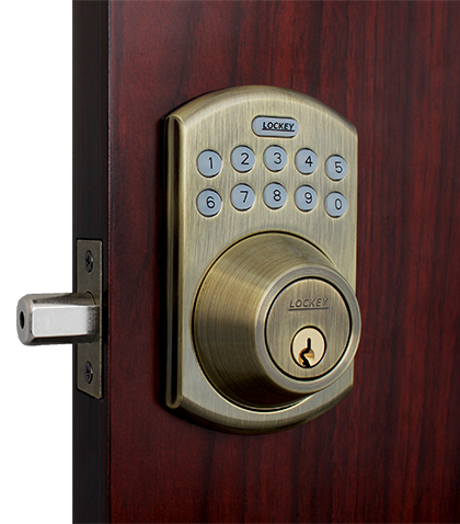 Lockey E-915R E-Digital Keyless Electronic Deadbolt Door Lock With Remote