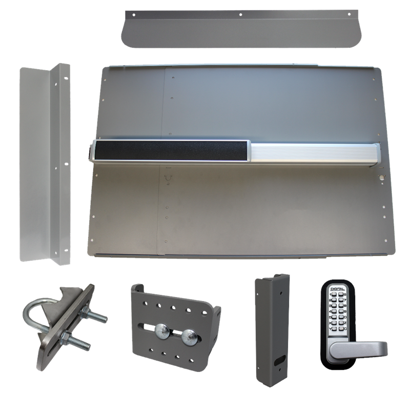 Lockey ED-64 & ED-65 EDGE Security Panic Shield Kit With PB2500 Panic Bar & Alarm Option