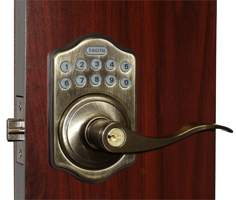 Lockey E985R Satin Chrome Inside Lockey E985R Antique Brass Outside