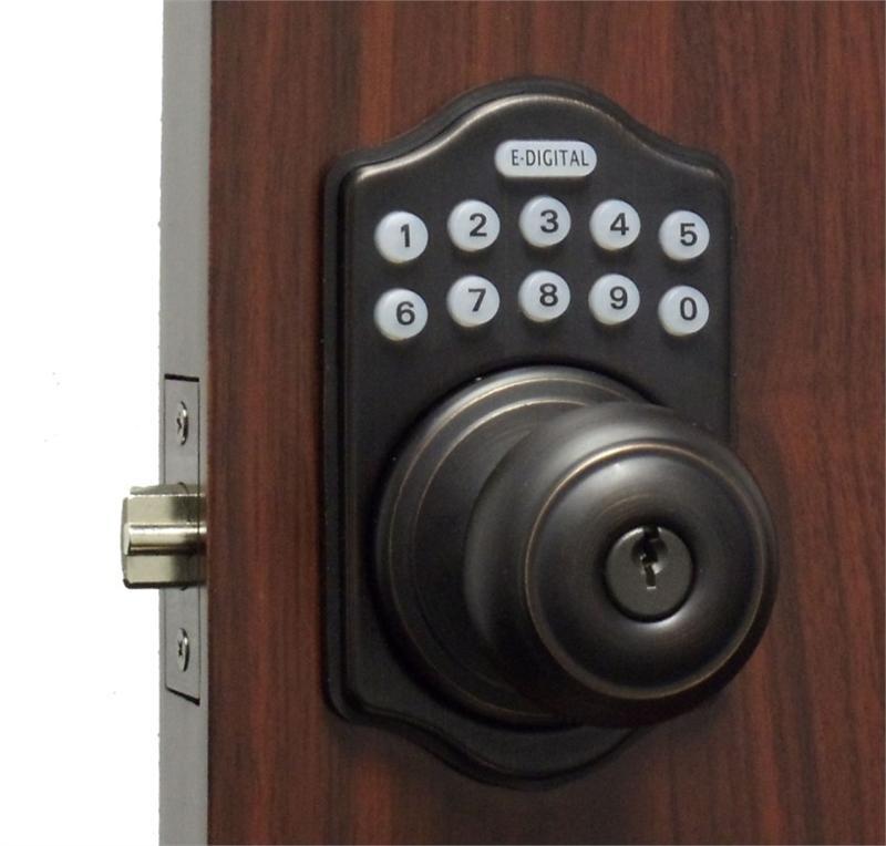 Lockey E930r Digital Keyless Electronic Knob Door Lock With Remote