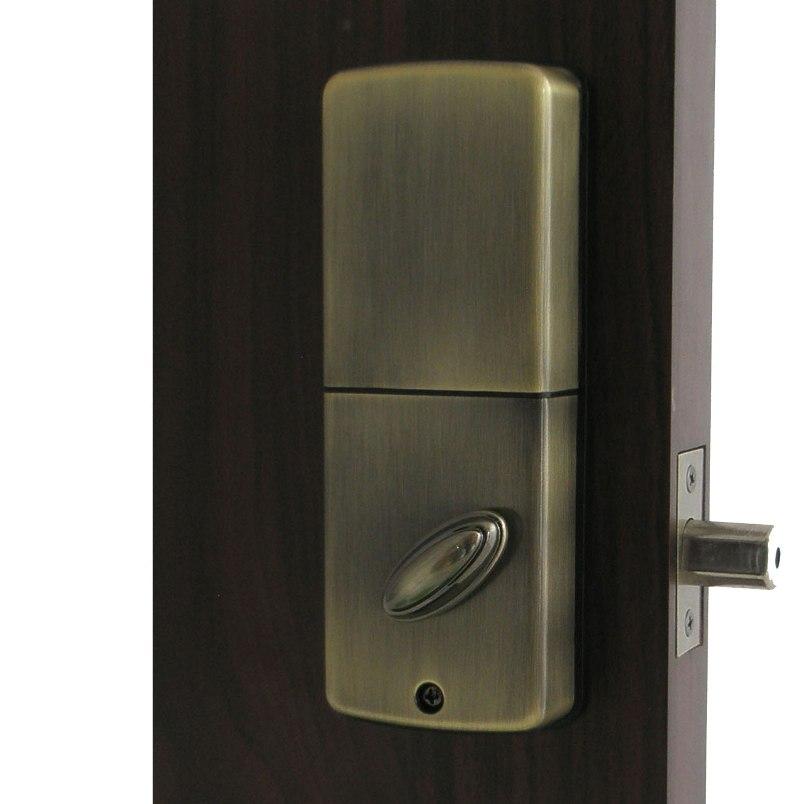 ... Keyless Electronic Deadbolt Door Lock With Remote Lockey E Digital  Inside
