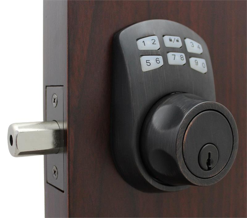 Lockey SL910 Slim Line Keyless Electronic/Mechanical Deadbolt