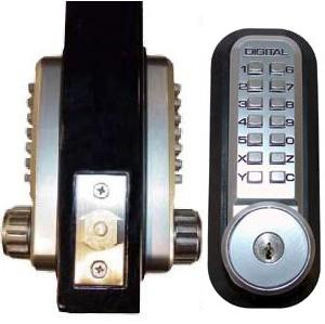 Lockey 2210DC KO Marine Grade Mechanical Digital Double Sided Combination Deadbolt Door Lock With Key Override