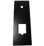 Lockey T-Cover, Cover Plate for 2000 and 3000 Series Locks, Black